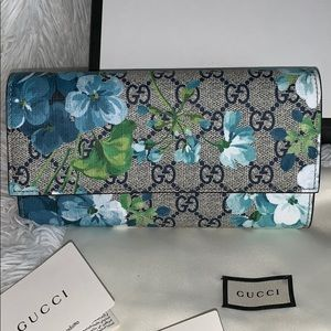 Gucci Bags - ❌SOLD ❌Gucci Blooms blue wallet NWB